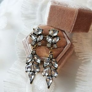 Gold and crystal chandelier earrings